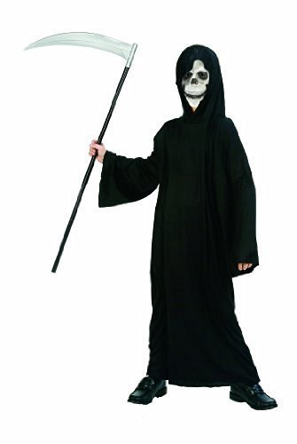 Child Goblin/Ghoul/Monk Horror Costume Hooded Robe (Weapon & Skull not included)