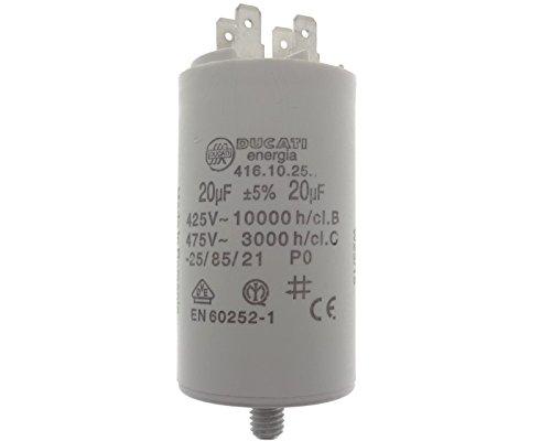 Condensatore 4-pin 20uF 20/µF 450V Motore condensatore Avviamento condensatore Impermeabile