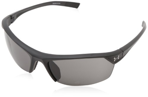 Under Armour Zone 2.0 Satin Black Frame, with Black Rubber and Gray - Sunglasses Customizable