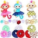 ibayda Monkey Glam 18 Piece Party Pack - Tutu Headband - Dress Up Accessories for Baby Mini Monkeys, Unicorns, Sloths, Pandas -