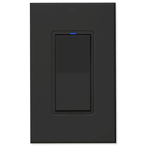 PCS PulseWorx UPB Wall Switch-Relay/Dimmer, Black (WS1C-B)