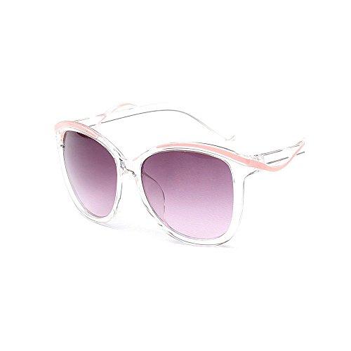 protection adapté de lunettes Design en aux lunettes aux soleil Lentilles et Lady Lunettes soleil de plates miroir UV Rattan de soleil acti de loisirs de de loisirs conduite Cool lunettes Rose Personnalité 4q6q7v