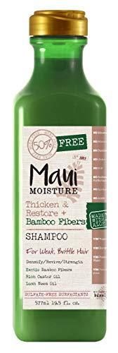 (Maui Moisture Thicken and Restore Plus Bamboo Fibers Shampoo for Weak Brittle Hair, 19.5 Ounce)