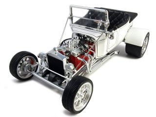 1923 Ford T Bucket White Convertible 1:18 Model Car, used for sale  Delivered anywhere in USA