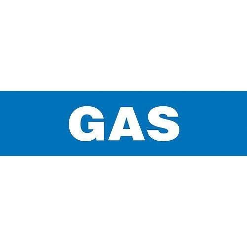GHS Safety PM1132RB,''Gas'' Plastic Sheet Pipe Marker, Pack of 50 pcs