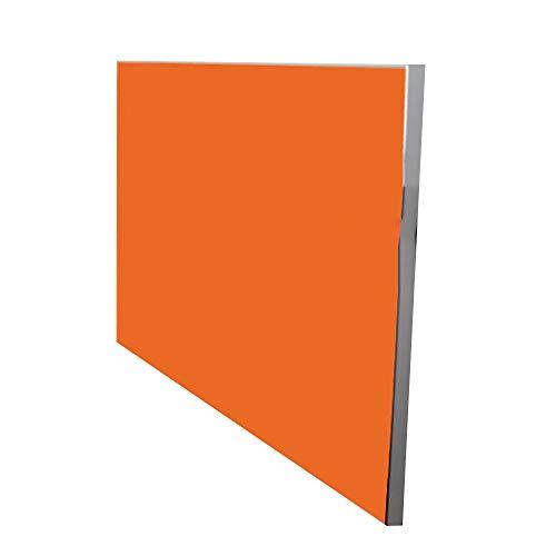 Mesa Mesa suspendida de Pared, Mesa de Comedor Plegable de Borde de aleacion de Aluminio Cocina de Mesa de Pared de Estilo Europeo Estante de Plato Lateral, Naranja