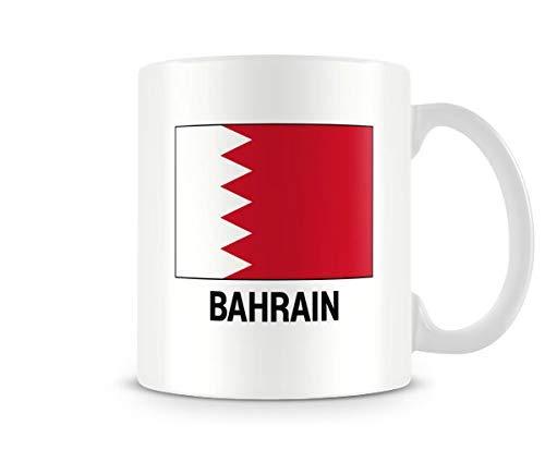 Printed Mug - Bahrain Flag Ceramic Coffee Mug Tea Mug Great Gift - Mug Bahrain