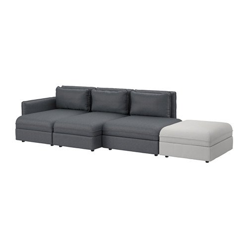 Ikea Sectional, 4-seat, Hillared dark gray, Orrsta light gray 8204.20511.3438
