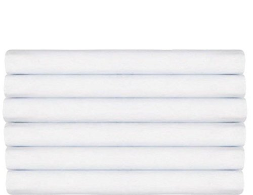 Fitted Sheet (Pack of 6, Twin, White) Deep Pocket Brushed Velvety Microfiber, Breathable, Soft - Comfortable - Wrinkle, Fade, Stain - Abrasion Resistant - Hotel Quality - Durable by Utopia Bedding (Twin Size Fitted Sheet compare prices)