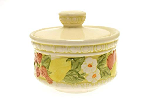 (Metlox Poppy Trail Fruit Vernonware Della Robbia Covered Sugar Bowl)