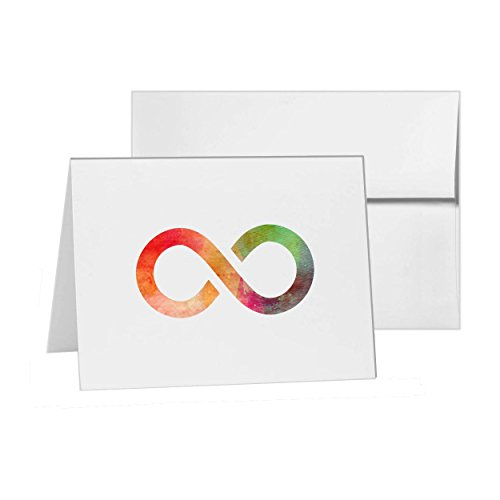 Infinity Abstract Eternity Infinite Loop, Blank Card Invitation Pack, 15 cards at 4x6, Blank with White Envelopes Style 11385 - Eternity Loop