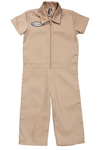 (Born to Love Knuckleheads - Infant and Baby Boy Grease Monkey Coveralls Tan 3T)