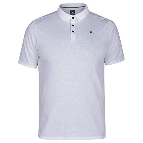 Hurley Men's Nike Dri-Fit Short Sleeve Lagos Polo, White, S ()
