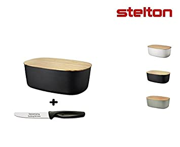 Stelton Rig Tig Brotkasten Box It Melamin Edelstahlstyling