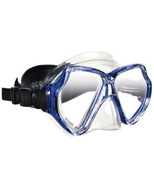 Oceanic Mako 2 Low Volume Two-Lens Scuba Diving Mask w/ Neoprene Strap, All Black