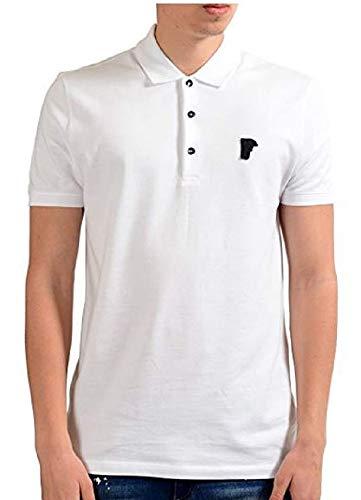 (Versace White Pique Polo T-Shirt (3XL))