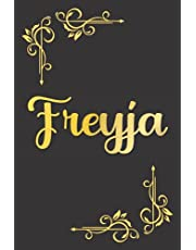 PERSONALIZED FREYJA GIFT: Beautiful Undated Weekly Planner With Freyja Name On Cover