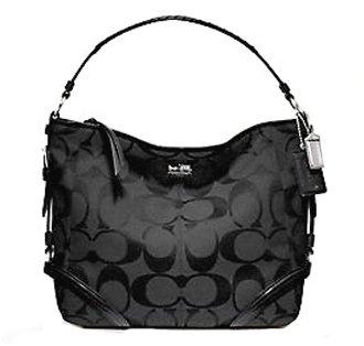 82a23b44ec50 Amazon.com  Coach Signature Chelsea Katarina Shoulder Hobo Bag Purse 18903  Black  Shoes