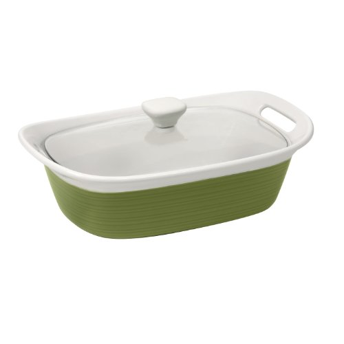 CorningWare Etch 2-1/2-Quart Casserole with Cover, Green