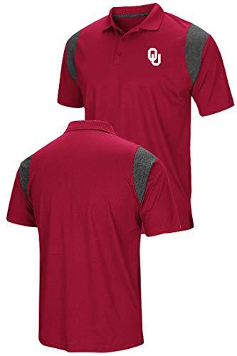 Colosseum Oklahoma Sooners Mens Crimson Friend Polo Shirt ()