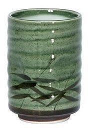 8 oz. Japanese Tea Cup Green Sasa by (Japanese Ceramic Tea)