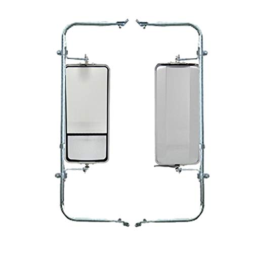 - Wide Mount Loop Arm Assembly Stainless Steel West Coast Mirrors w/Convex