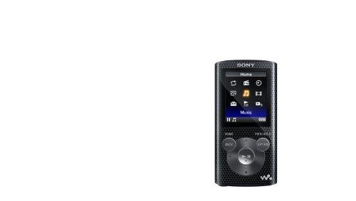 Sony NWZE385BLK NWZ-E380 Series Walkman 16GB Video MP3 Player Black