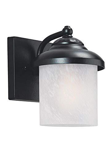 Yorktown Vanity - Sea Gull Lighting 84048EN3-12 Small One Light Outdoor Wall Lantern, Black