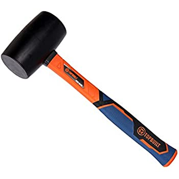 TopBuilt 16 Ounce Black Rubber Mallet with Fiberglass Handle 25050