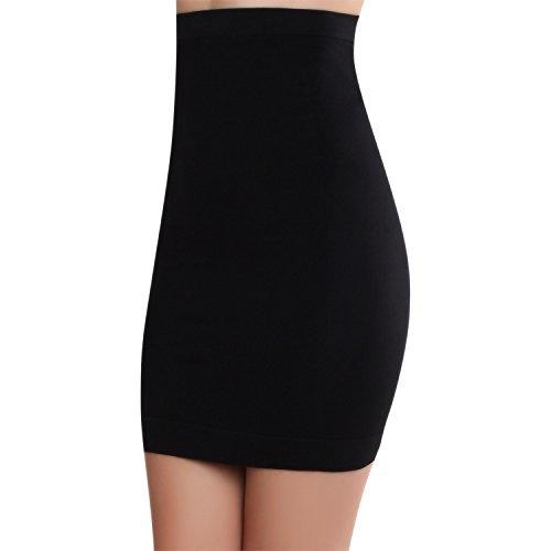 Smart Fit Me Women Slimming Half Slip for Under Dresses (Black, M) ()