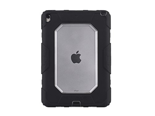 Griffin Survivor All-Terrain iPad Pro 10.5 Case with Stand - Impact-Resistant and Rugged Design, Black/Clear