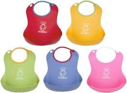 Game / Play BABYBJORN Soft Bib, Soft beaded neckline, Adjustable opening and closure, Color: Green Toy / Child / Kid