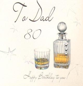 Dad 80th Birthday Handmade Card Amazoncouk Kitchen Home