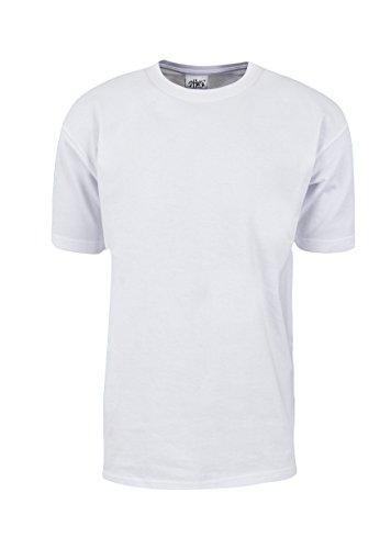 T-shirt White Club (MHS01_2T Max Heavy Weight Cotton Short Sleeve T-Shirt White 2X-Tall)