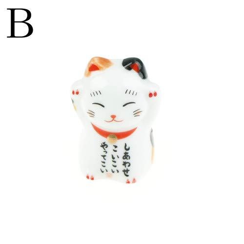 (Chopsticks - Japanese Ceramic Chopsticks Cute Mini Lucky Cat Holder - Maneki Bamboo Japan Leaf Japanese Charm Rest Chopstick Wallet Food Lucky Style Rainbow Holder Siege Ceramic Shirt Stand Bea)