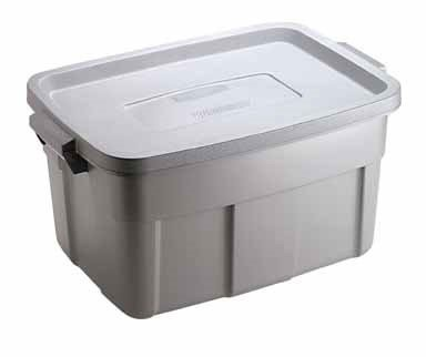 Rubbermaid Roughneck Tote Storage Container, Steel, 14-gallon (1841372) Pack of 6 by Rubbermaid (Image #1)
