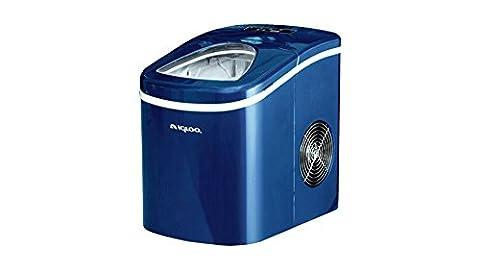 Free Standing Portable Compact Ice Maker Blue - Retro Sonic Compressor