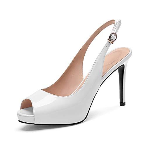 3 1 Rouge Pour Femme Taille 39 Femmes Fr Lacées Talon D'été Blanc Sandales couleur Dcyu Aiguille Chaussures OxHw6nSqf