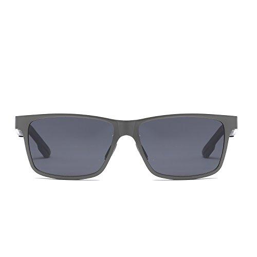 sol Gafas alta protección cuadradas conducción polarizado gama de Silver de espejo UV400 UV Gafas de WLHW los de de aluminio colores de de de Color magnesio frame grey sol aluminio hombres black Asian frame grey de qEanw4