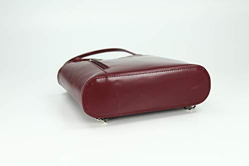 H au dos à Rouge x femme pour Sac x Belli Multicolore B Bordeaux main porté Multicolore 28x28x8 cm T qS46Rx