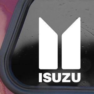 ISUZU White Sticker Decal Diesel Truck Trooper Rodeo Amigo BIG White Sticker Decal ()