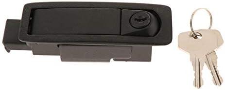Toygogo 1PCポップアッププッシュボタンキャビネットドアプレーンカムロック105mm長さブラックWキー