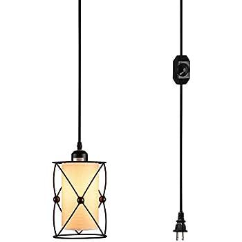modern industrial pendant lighting. creatgeek plugin modern industrial pendant light with linen drum lamp shabe 15u0027 lighting p