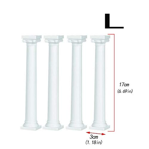 - Stands - 4pcs Set White Grecian Pillars Wedding Cake Stand Valentine 39 S Day Tier Separator Support - De Under Candle That Up Board Tripod Riser Signs Htc
