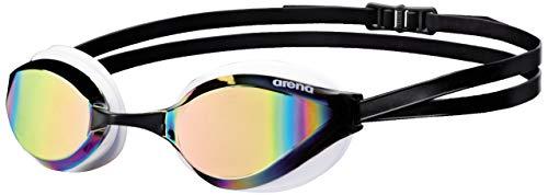 arena Unisex Training Wettkampf Schwimmbrille Python Mirror (Verspiegelt, UV-Schutz, Anti-Fog Beschichtung), Revo-White (54), One Size