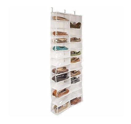 RGANT Door Shoe Organizer Hanging Closet Cabinet Shoes Rack Storage Houseware with 26 Grids (White)
