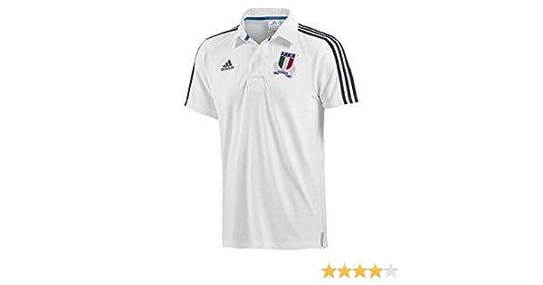 adidas Polo Italia Rugby -Blanco-: Amazon.es: Deportes y aire libre