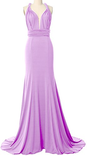 Evening Maxi Multi Lavendel Formal Dress MACloth Gown Wrap Way Bridesmaid Convertible qy06Z7