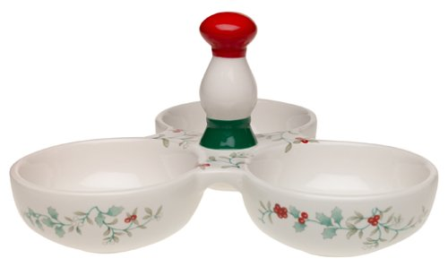 Pfaltzgraff Winterberry Divided Serving Dish with Sculpted Handles ()