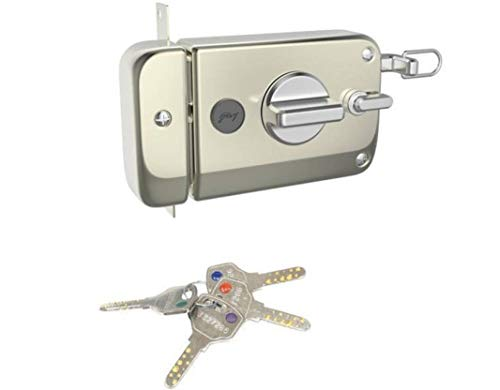 Godrej Locks Twinbolt Ultra XL Satin Nickel (Silver)